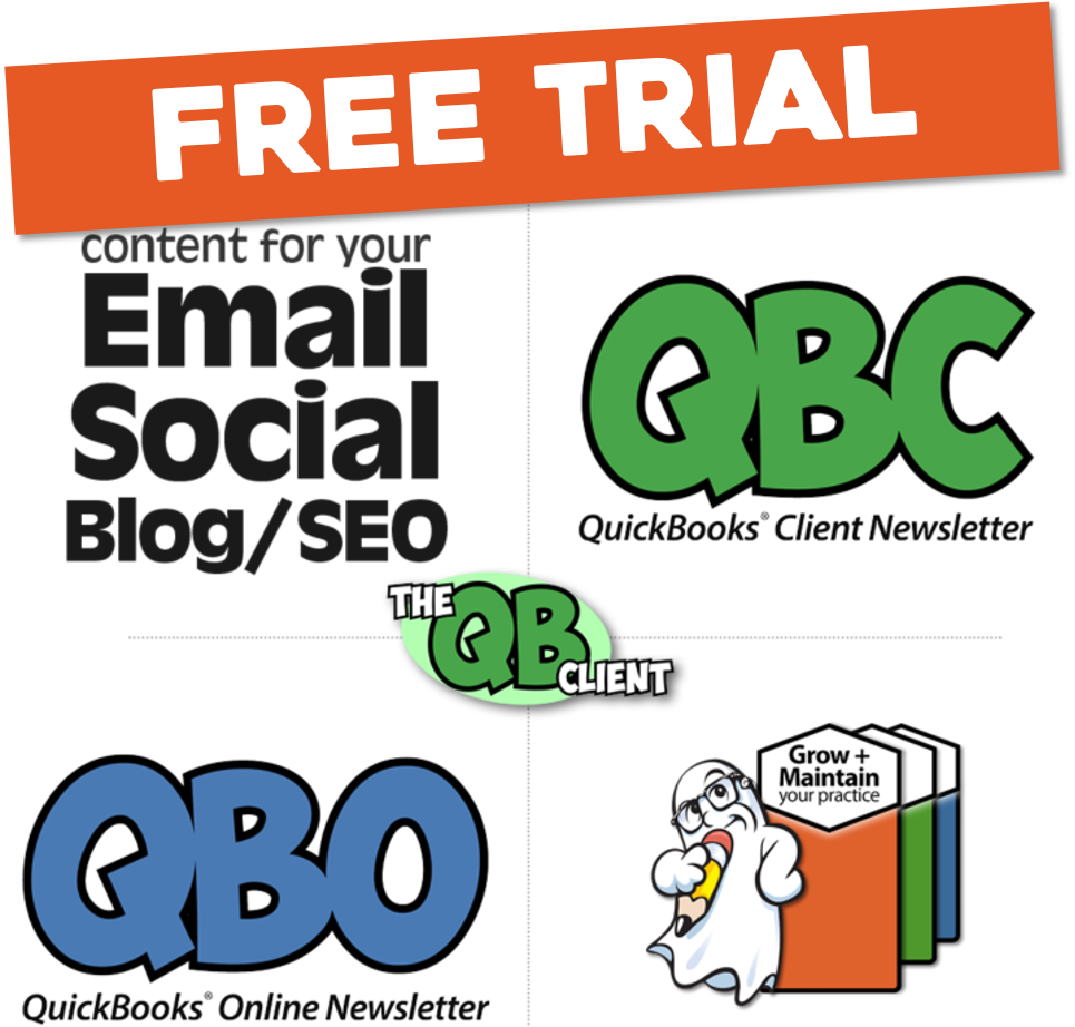 QuickBooks Client Newsletters for Certified ProAdvisors FREE TRIAL